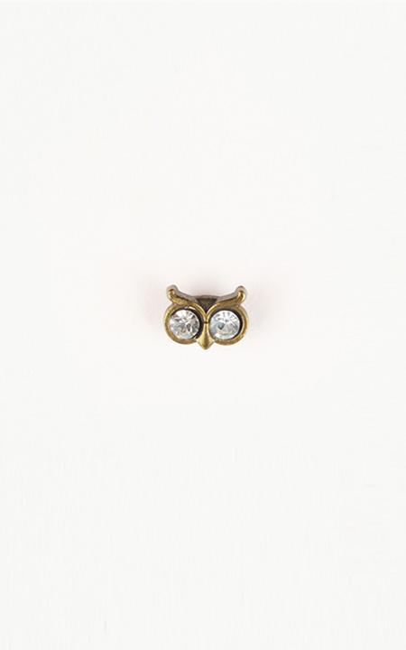 Owl Brass-Tone Lapel Pin
