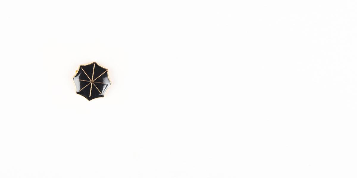 Black Umbrella Gold-Tone Lapel Pin- view-1