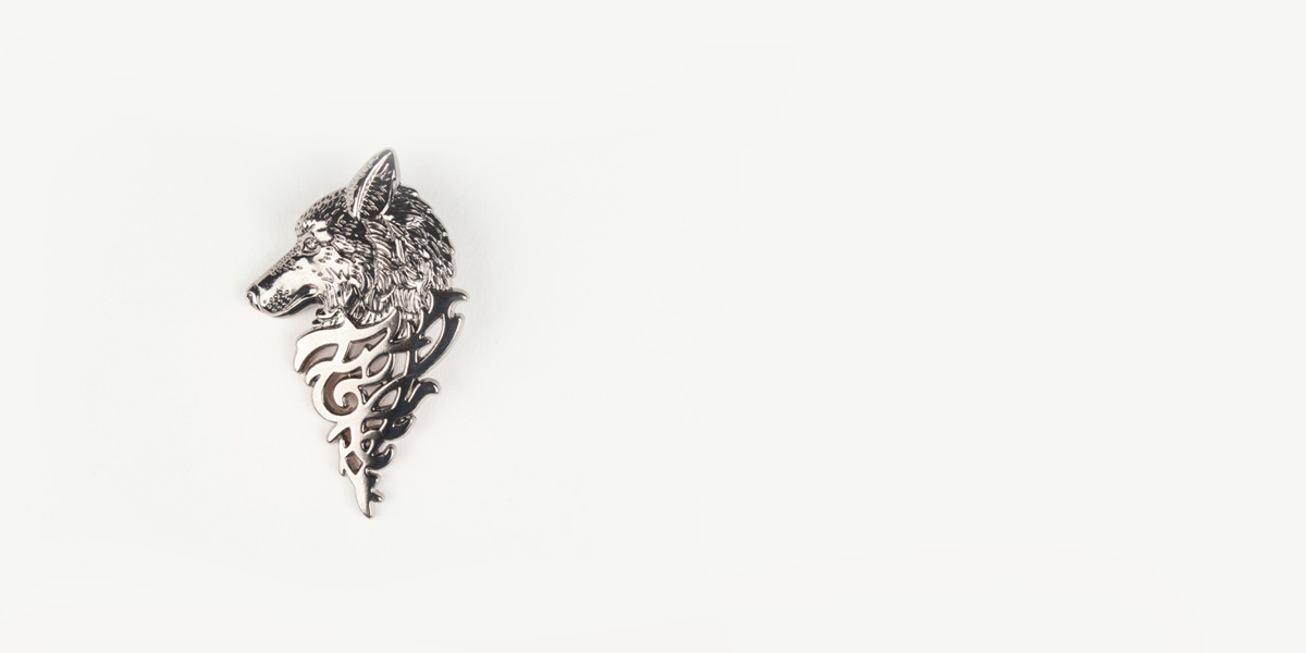 Winter Wolf Silver-Tone Lapel Pin- view-1