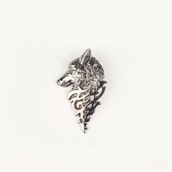 Winter Wolf Silver-Tone Lapel Pin-mbview-1