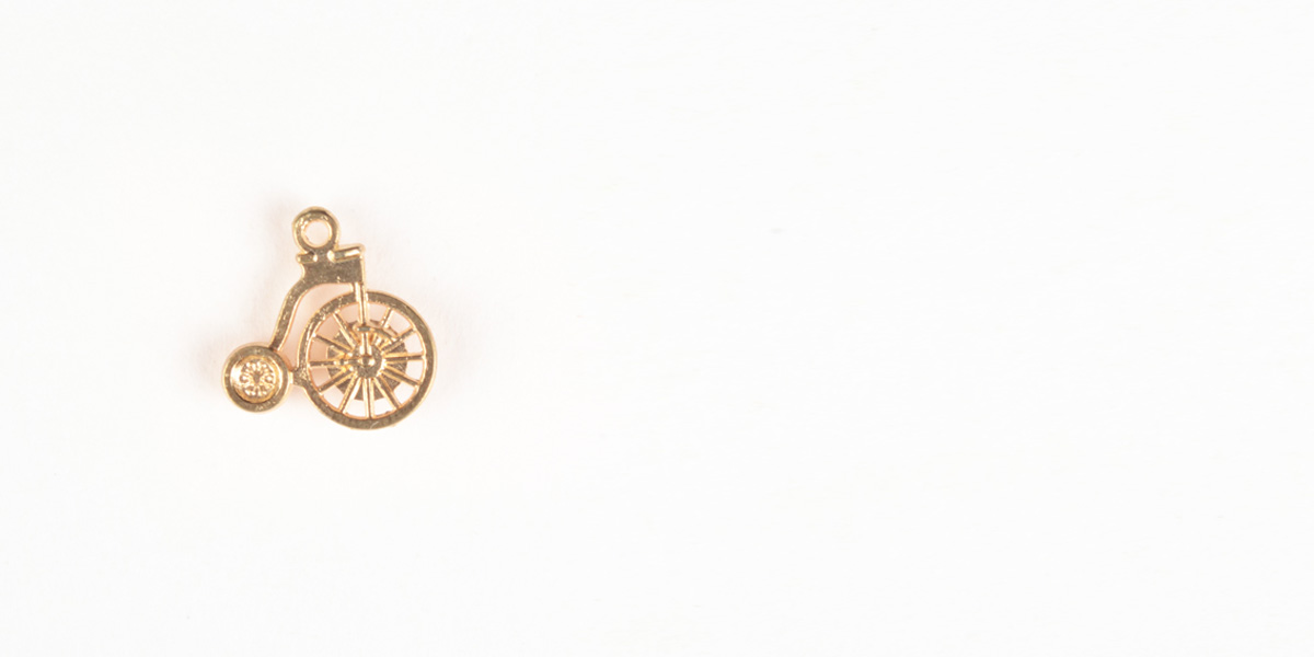 Cycle Gold-Tone Lapel Pin- view-1