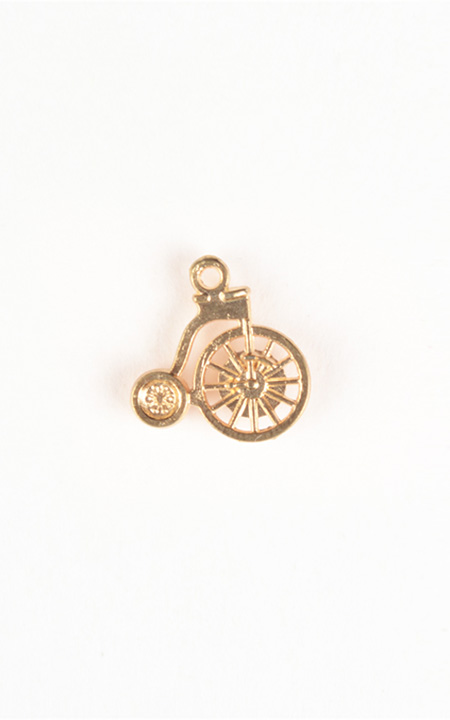 Cycle Gold-Tone Lapel Pin