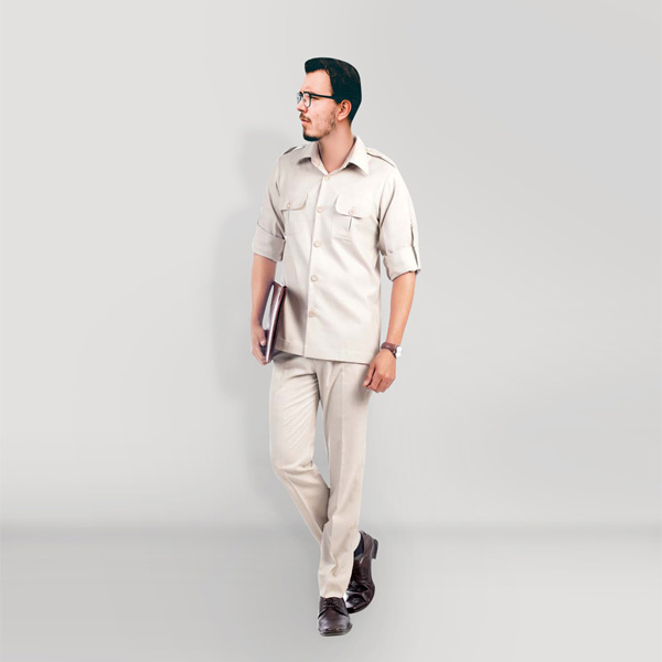 Classic Beige Safari Suit-mbview-1