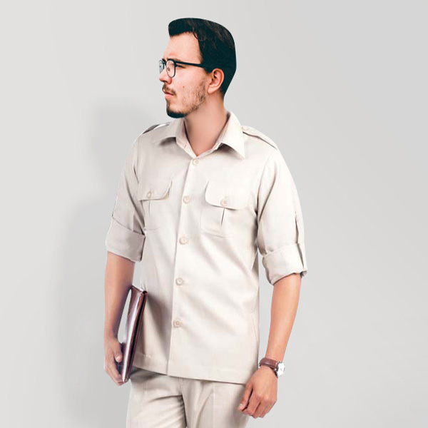 Classic Beige Safari Suit-mbview-3