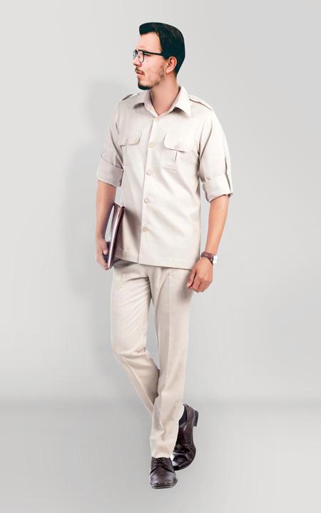 Classic Beige Safari Suit