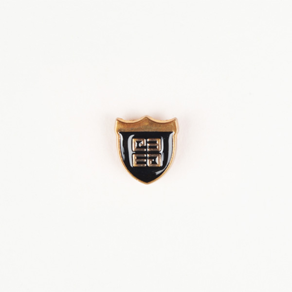 Crest Black And Gold-Tone Lapel Pin-mbview-1