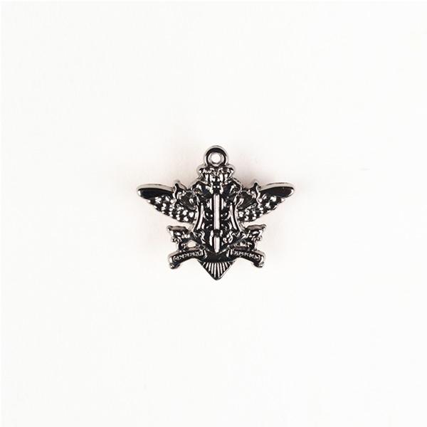 Emblem Silver-Tone Lapel Pin-mbview-1