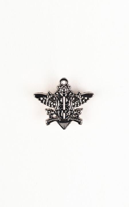 Emblem Silver-Tone Lapel Pin