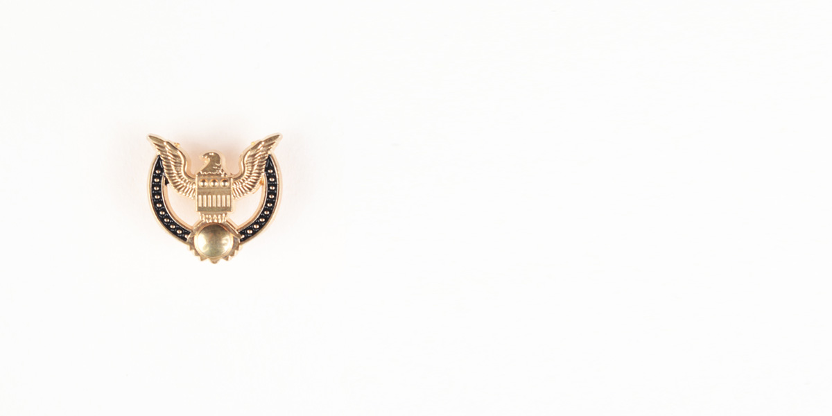 Peace Crest Gold-Tone Lapel Pin- view-1