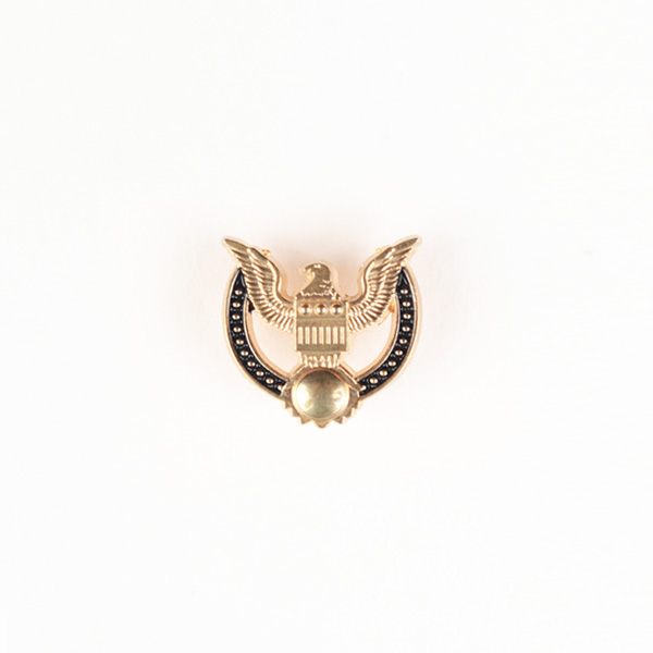 Peace Crest Gold-Tone Lapel Pin-mbview-1