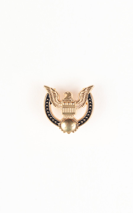 Peace Crest Gold-Tone Lapel Pin