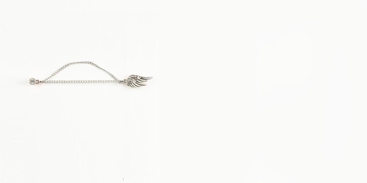 Swan Silver-Tone Boutonniere Lapel Pin- view-1