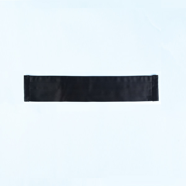 Black Pleated Satin Cummerbund-mbview-1