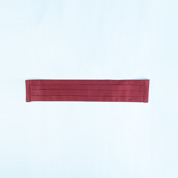 Maroon Pleated Satin Cummerbund-mbview-1