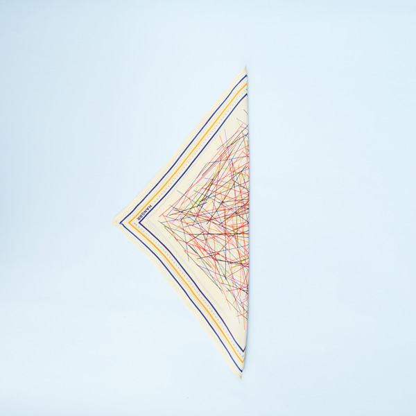 Cross Fire Yellow Blue Silk Pocket Square-mbview-3