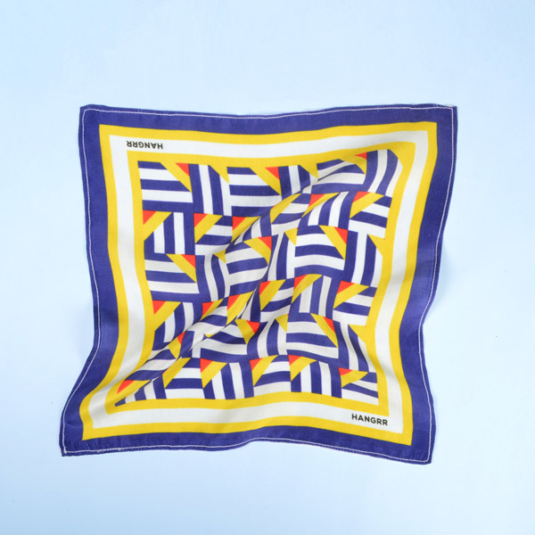 Crossroads Blue Graphic Silk Pocket Square-mbview-2