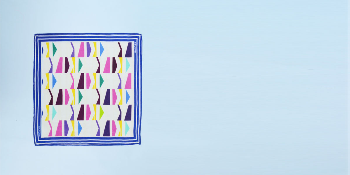 Packman Cruise Blue Silk Pocket Square- view-1