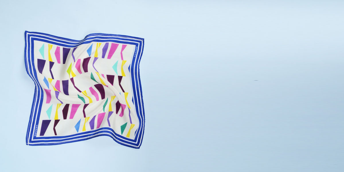 Packman Cruise Blue Silk Pocket Square- view-2