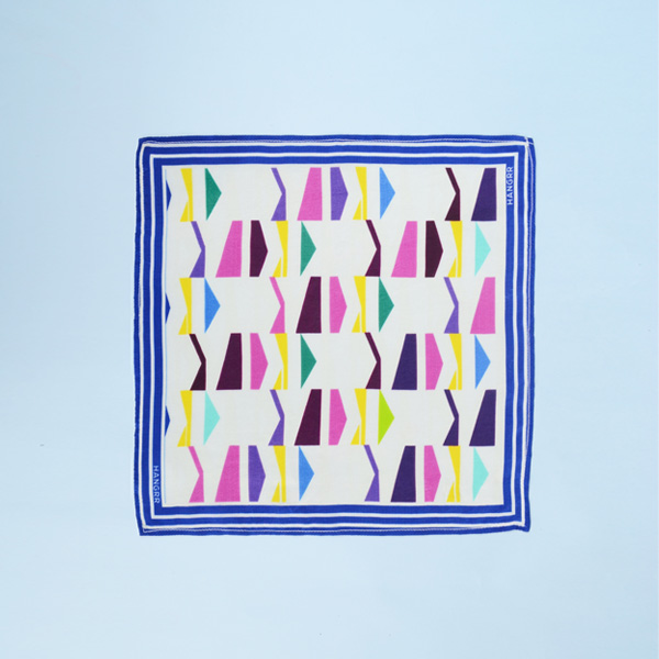Packman Cruise Blue Silk Pocket Square-mbview-1