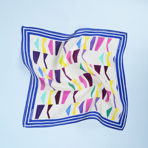 Packman Cruise Blue Silk Pocket Square-mbview-2