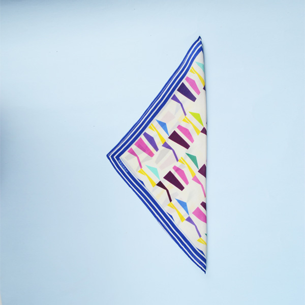 Packman Cruise Blue Silk Pocket Square-mbview-3