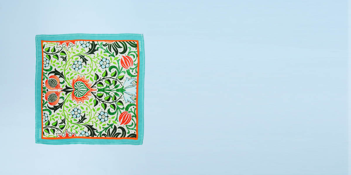 Garden Chemistry Green Silk Pocket Square- view-1