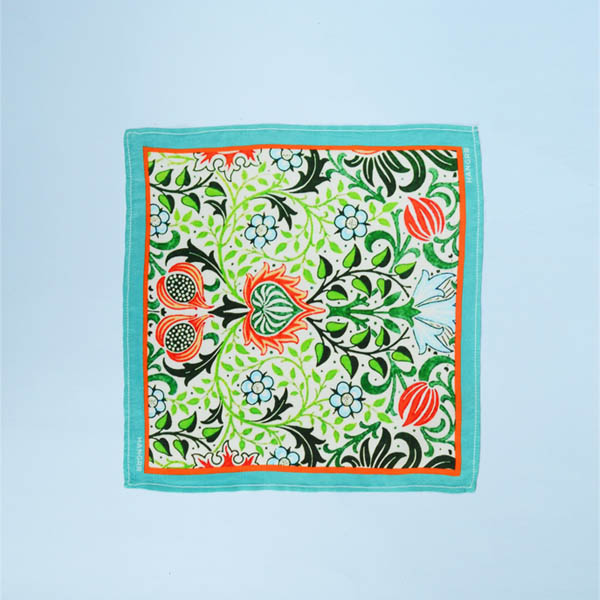 Garden Chemistry Green Silk Pocket Square-mbview-1