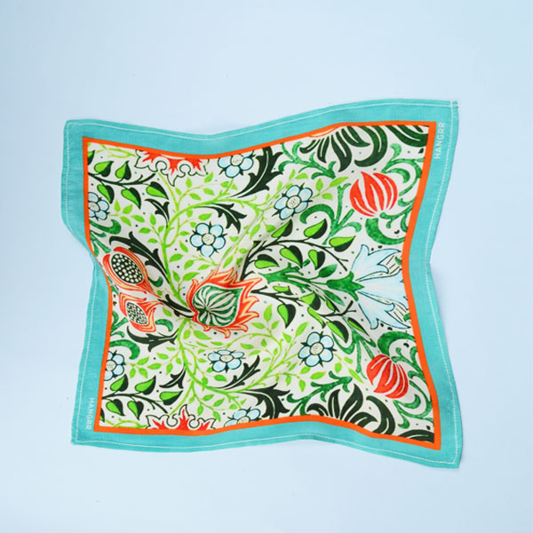 Garden Chemistry Green Silk Pocket Square-mbview-2
