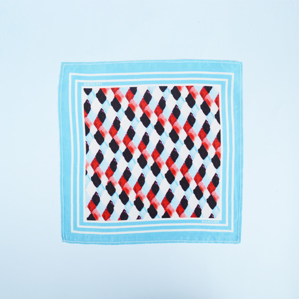 Light Blue Rust Silk Pocket Square-mbview-1