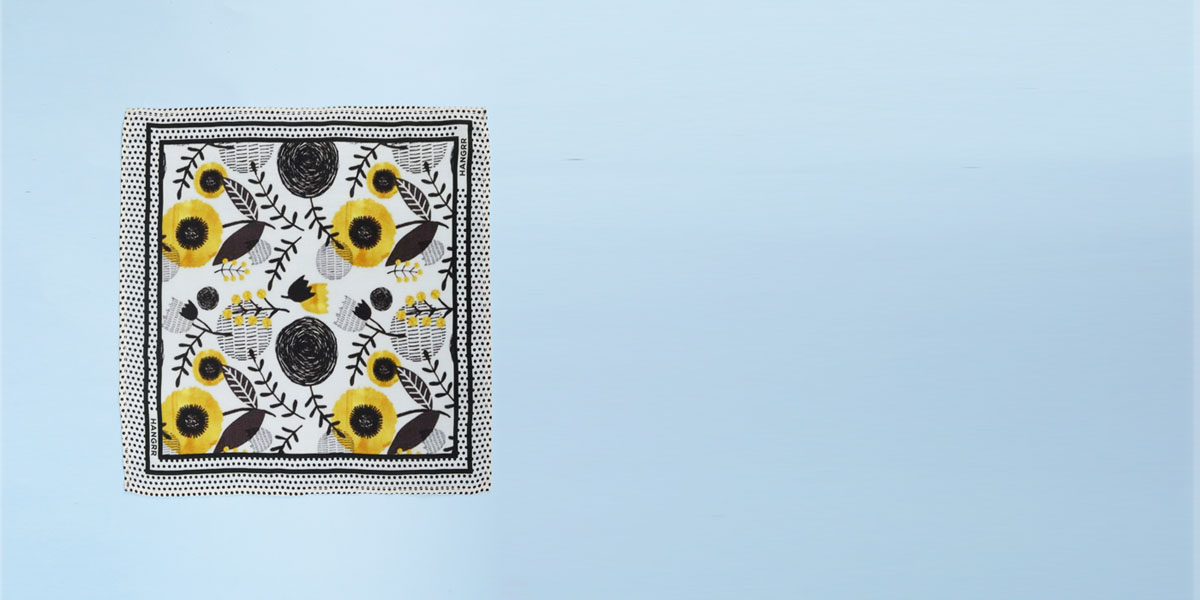 Sunflower Spotbee Polka Silk Pocket Square- view-1