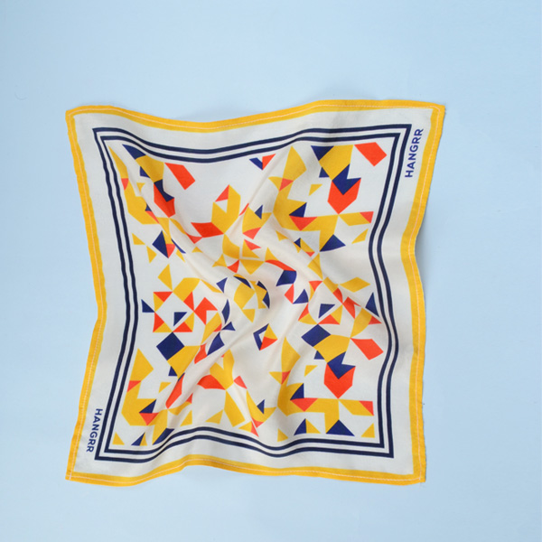 Triangulation Yellow Red Pocket Square-mbview-2