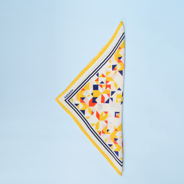 Triangulation Yellow Red Pocket Square-mbview-3
