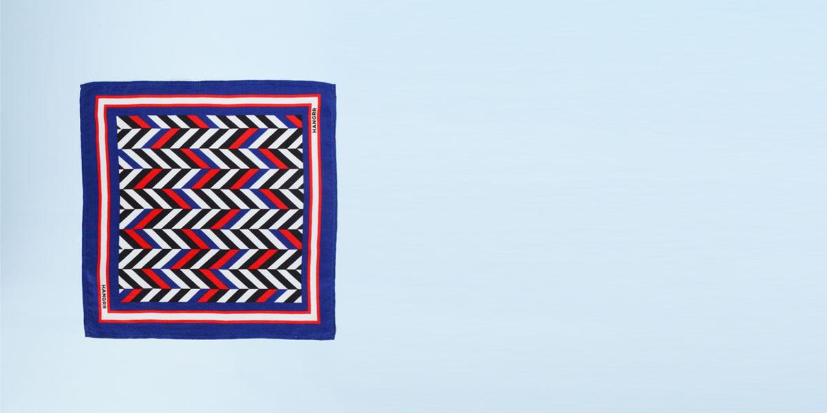 American Herringbone Silk Pocket Square- view-1