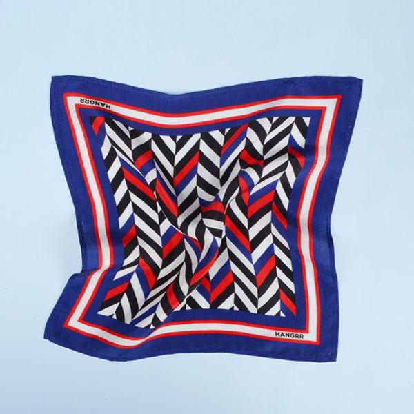 American Herringbone Silk Pocket Square-mbview-2