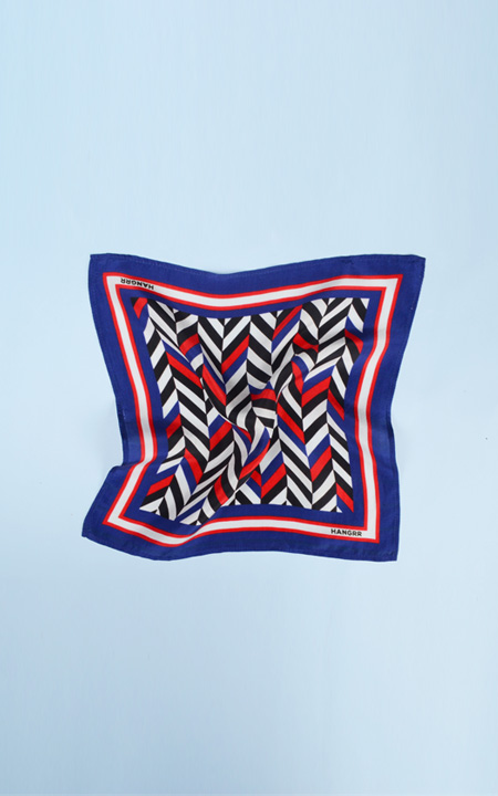 American Herringbone Silk Pocket Square
