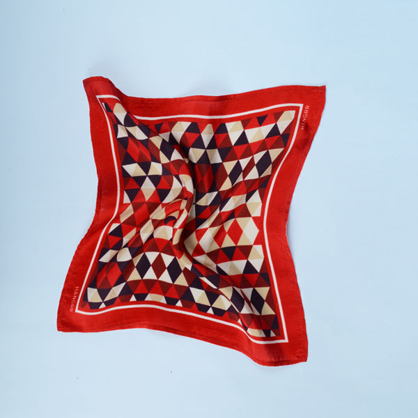 Egyptian Pyramid Red Silk Pocket Square-mbview-2