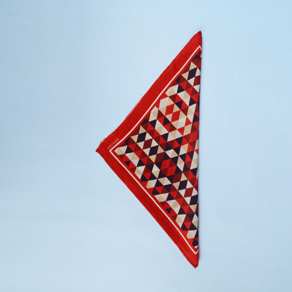 Egyptian Pyramid Red Silk Pocket Square-mbview-3
