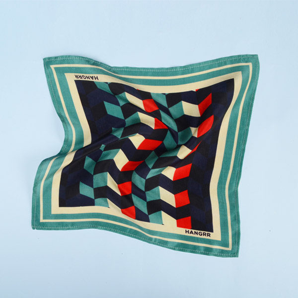 Chevron Redfire Silk Pocket Square-mbview-2