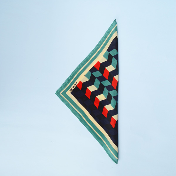Chevron Redfire Silk Pocket Square-mbview-3