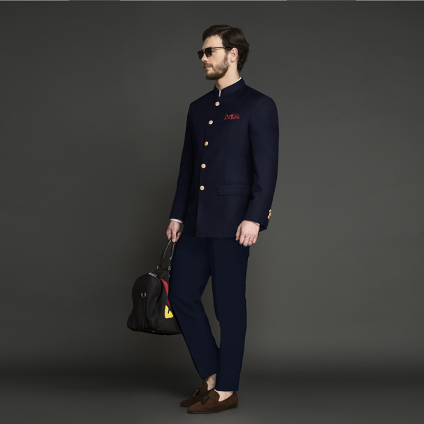 Heritage Blue Jodhpuri Suit-mbview-1