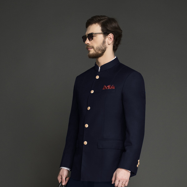 Heritage Blue Jodhpuri Suit-mbview-3