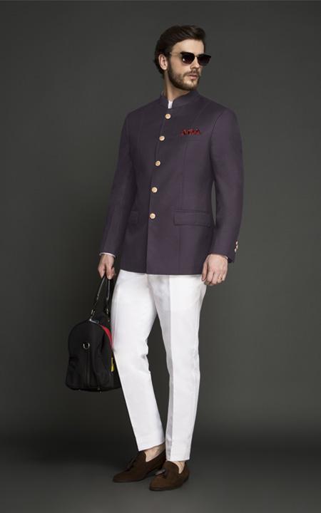 Spanish Purple Jodhpuri Suit
