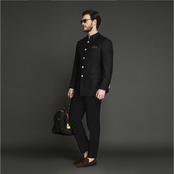 Classic Black Jodhpuri Suit-mbview-1