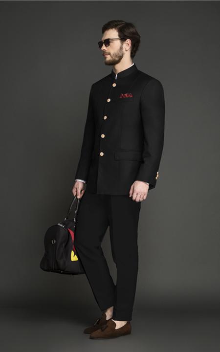 Classic Black Jodhpuri Suit