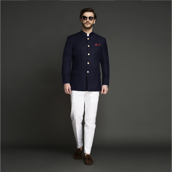 Navy Blue Jodhpuri Suit-mbview-1