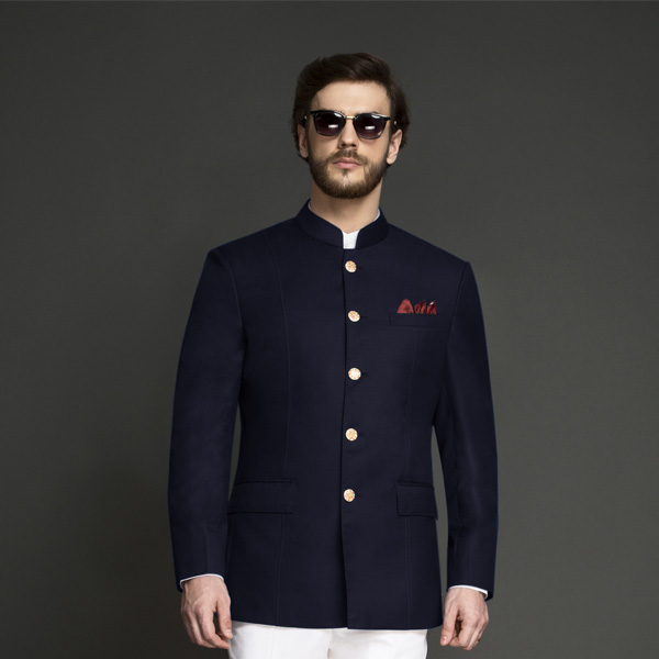 Navy Blue Jodhpuri Suit-mbview-3