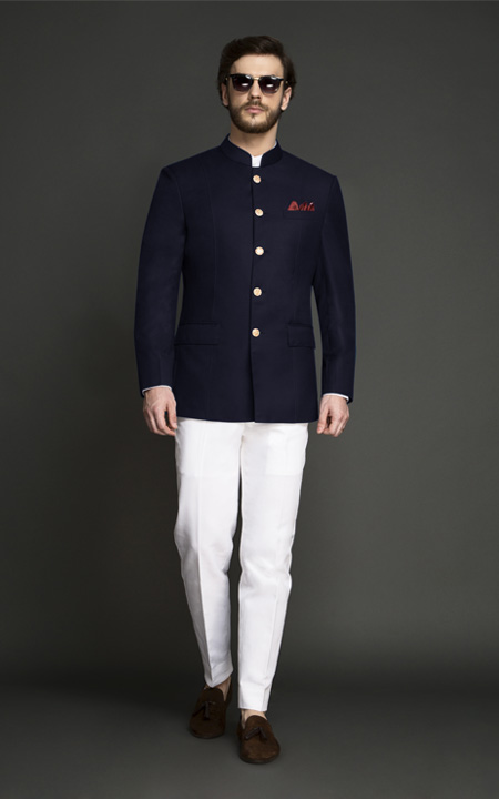 Navy Blue Jodhpuri Suit