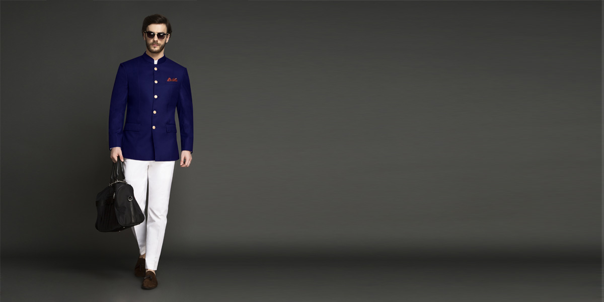 Indigo Blue Jodhpuri Suit- view-1