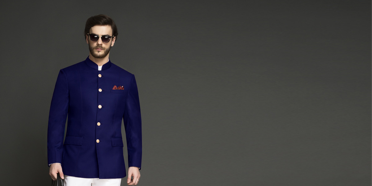 Indigo Blue Jodhpuri Suit- view-3