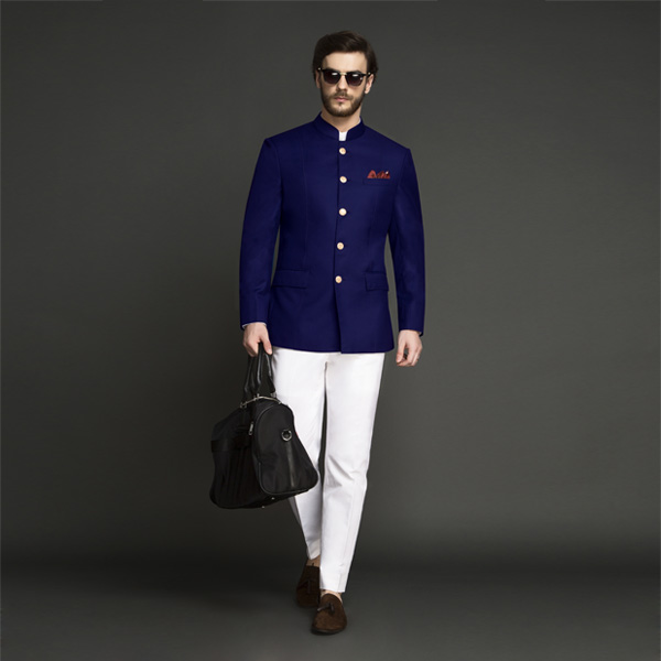 Indigo Blue Jodhpuri Suit-mbview-1